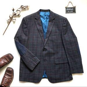 Perry Ellis Portfolio Plaid Blazer Sport Coat